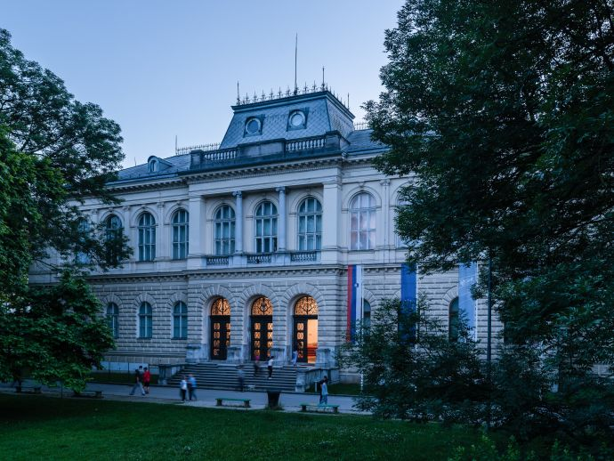 The National Museum of Slovenia palace in the very centre of Ljubljana
