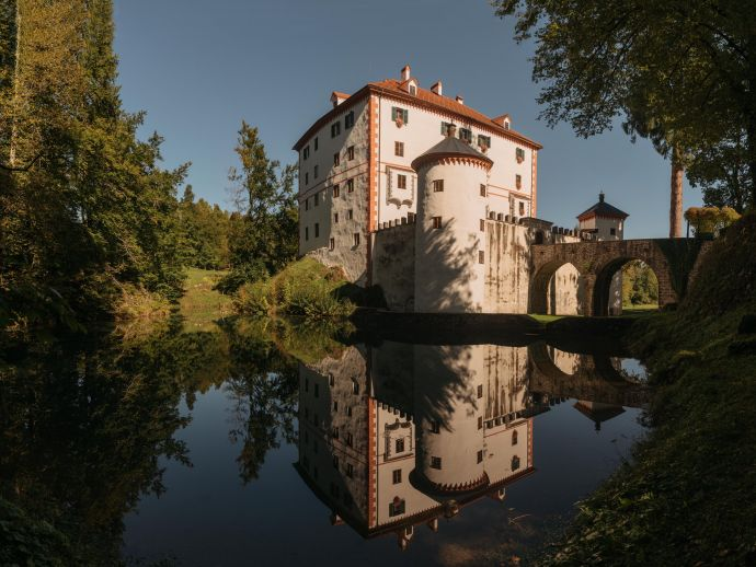 The Romantic castle boasts authentic interiors from the second half of the 19th century